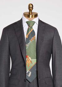 Green Polo Scarf Tie, thumbnail 1