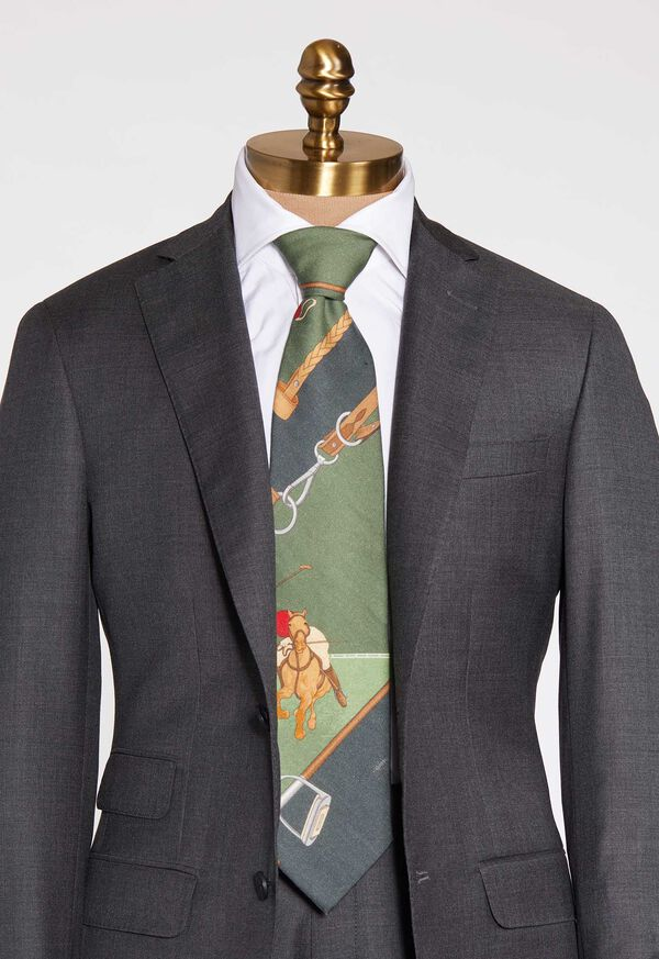 Green Polo Scarf Tie, image 1
