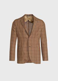 Linen Windowpane Soft Jacket, thumbnail 1