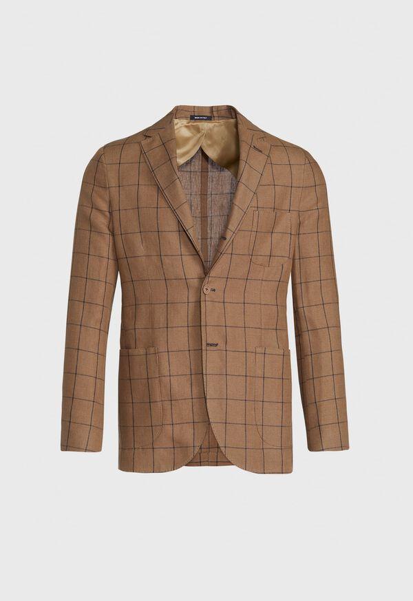 Linen Windowpane Soft Jacket, image 1