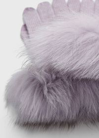 Touchscreen Fox Fur Trim Glove, thumbnail 2