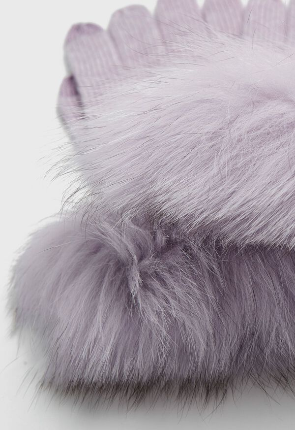 Touchscreen Fox Fur Trim Glove, image 2