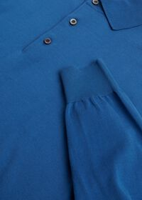 Long Sleeve Cotton Polo Shirt, thumbnail 2