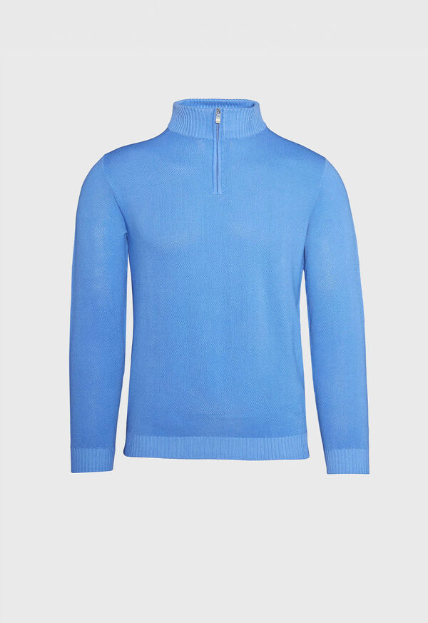 Pique Stitch 1/4 Zip Sweater, image 1