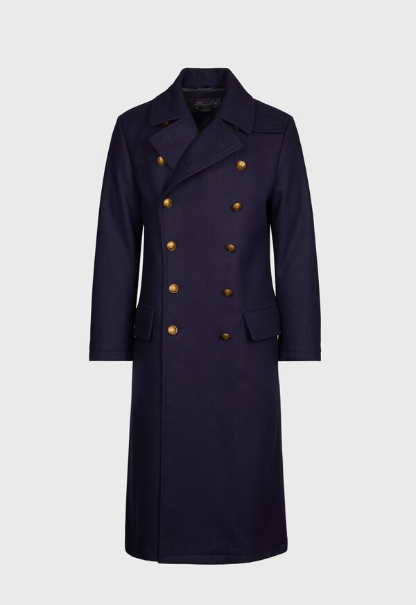 Double Breasted Navy Coat