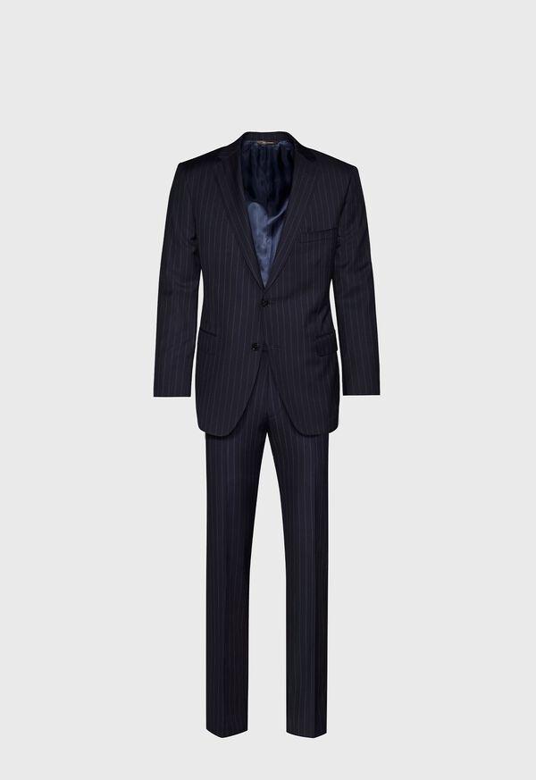 Navy Stripe Super 110s Wool Suit, image 1