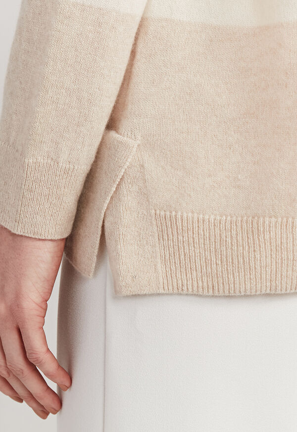 Striped Boatneck Cashmere Sweater, image 4