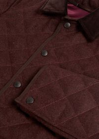 Quilted Loden Barn Jacket with Corduroy Collar, thumbnail 3