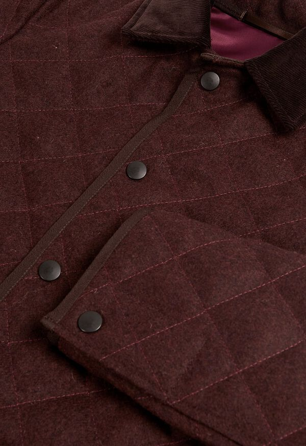 Quilted Loden Barn Jacket with Corduroy Collar, image 3