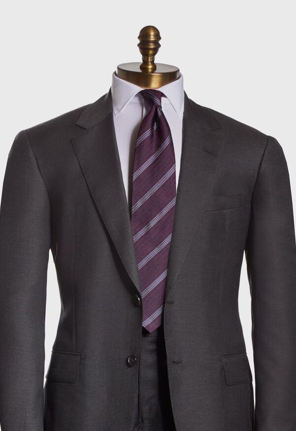 Textured Stripe Silk Tie, image 2