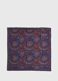 Vintage Paisley Silk Pocket Square, thumbnail 2