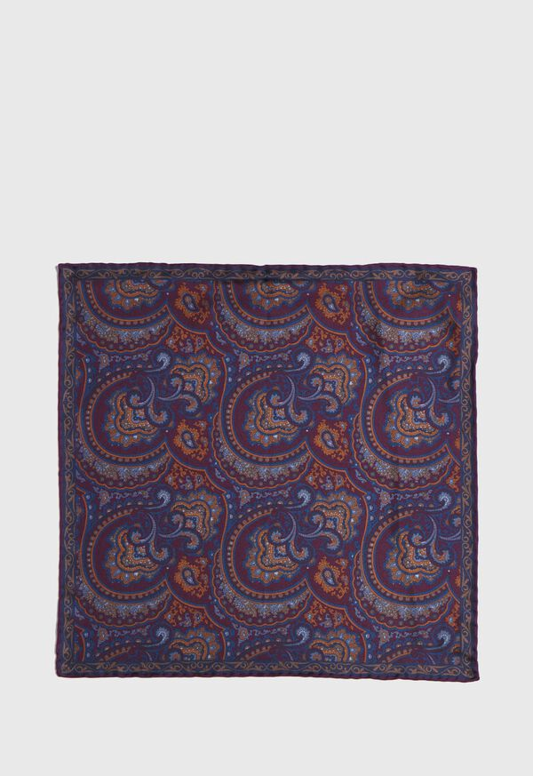 Vintage Paisley Silk Pocket Square, image 2