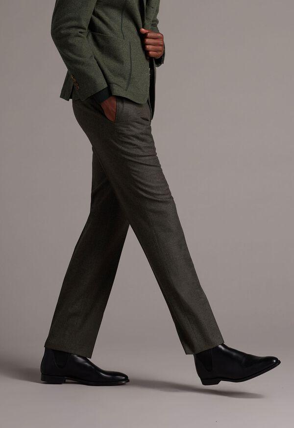 Super 120s Sage Flannel Trouser, image 2