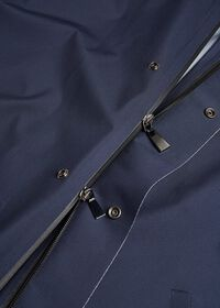 Navy Hooded Waterproof Jacket, thumbnail 4