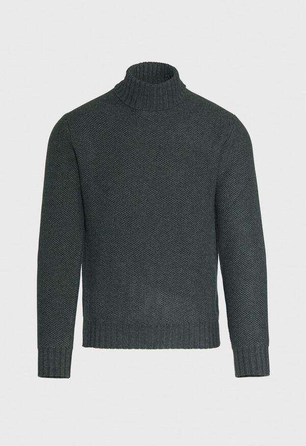 Cashmere Pique Turtleneck Sweater, image 1