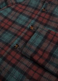 Tartan Plaid Wool Hooded Coat, thumbnail 3