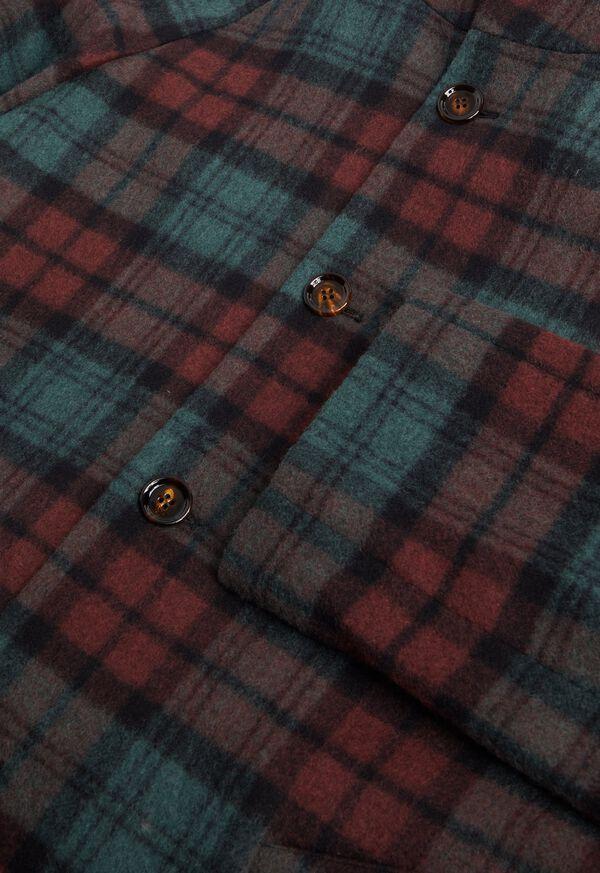 Tartan Plaid Wool Hooded Coat, image 3