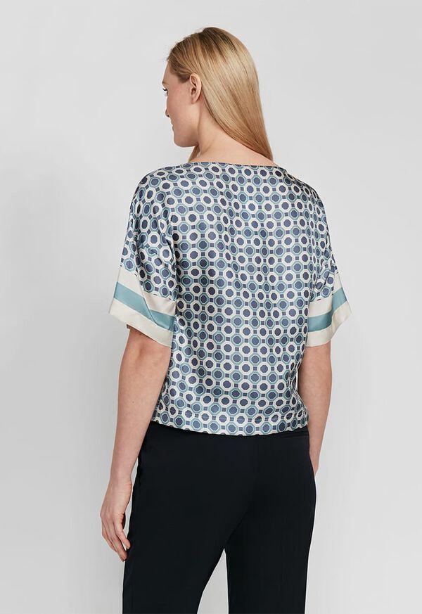 Geometrical Print Silk Blouse, image 3