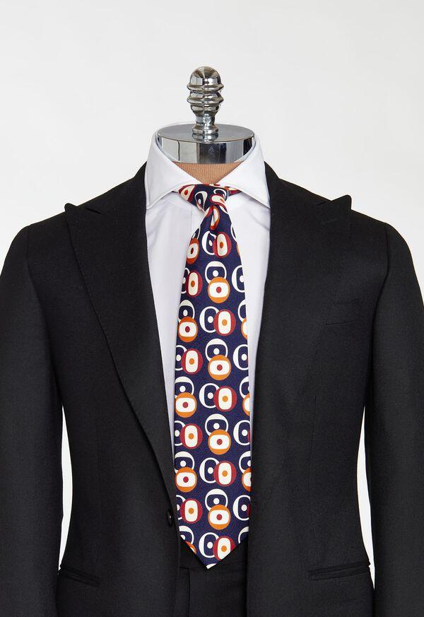 Printed Deco Circles Tie, image 2