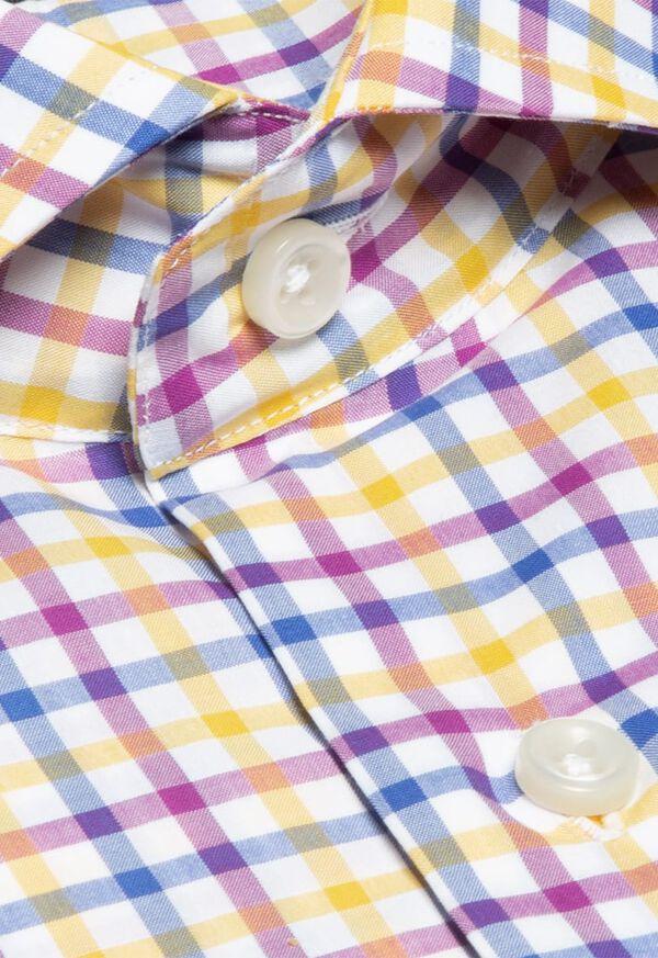 Cotton Check Pattern Sport Shirt, image 2