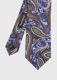 Paisley Silk and Linen Tie, thumbnail 1