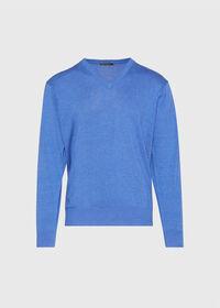 Pima Cotton V-Neck Sweater, thumbnail 1