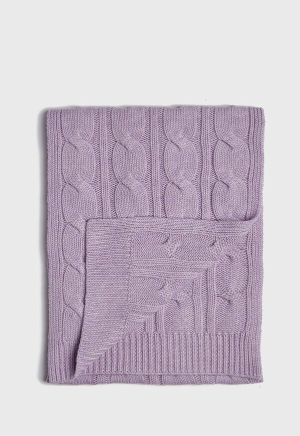 Cashmere Cable Knit Scarf, image 1