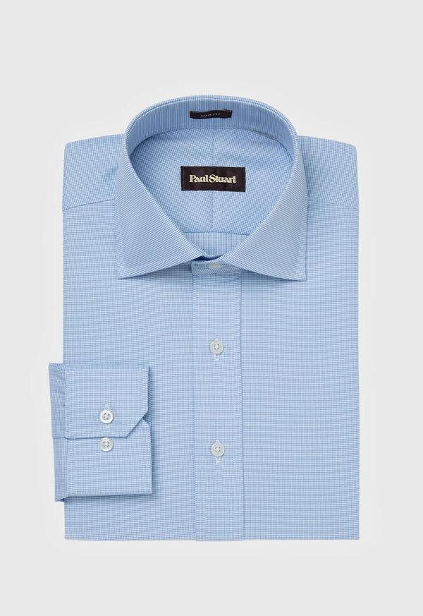 Slim Fit Blue Royal Oxford Cotton Dress Shirt, image 1