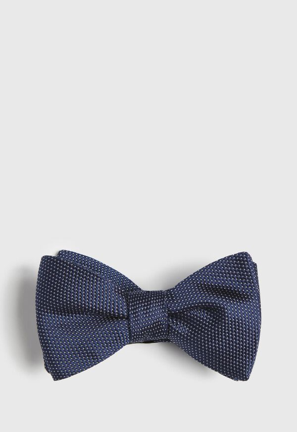 Silk Micro Dot Bow Tie, image 1
