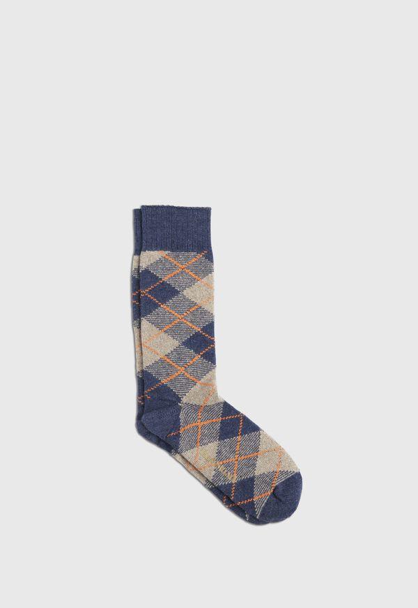 Cashmere Blend Argyle Sock