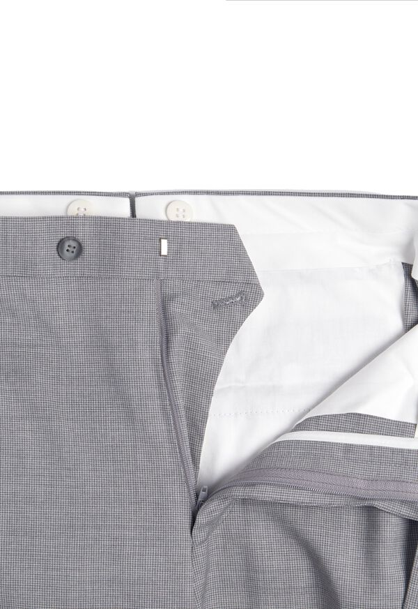 Light Grey Mini Houndstooth Wool Blend suit, image 6