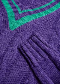 Cable Tennis Sweater, thumbnail 2