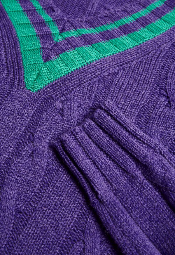 Cable Tennis Sweater, image 2