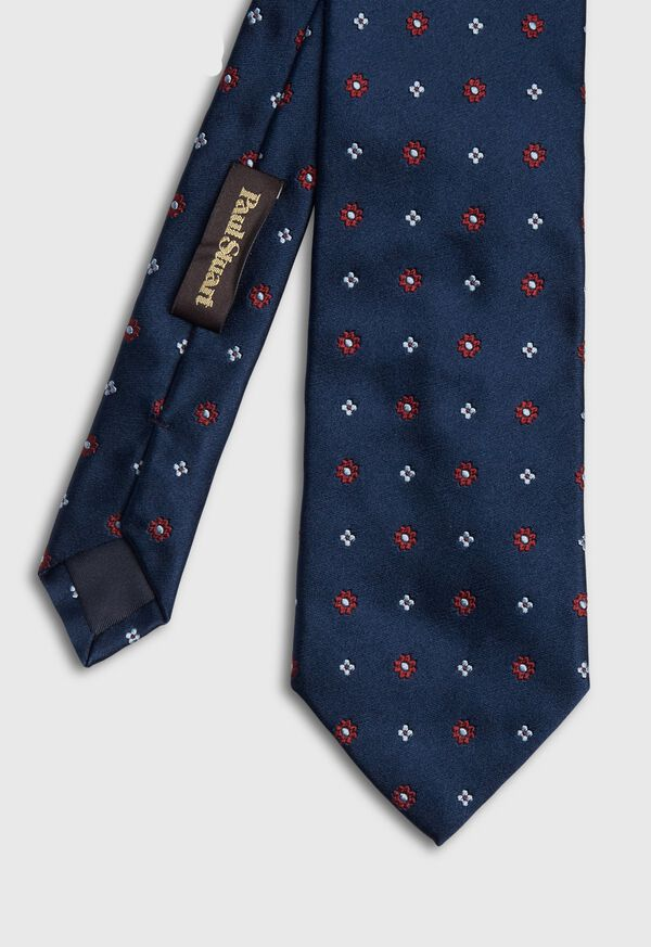 Micro Floral Satin Tie, image 1