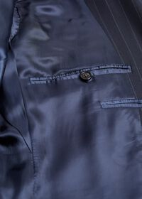 Navy Stripe Super 110s Wool Suit, thumbnail 4