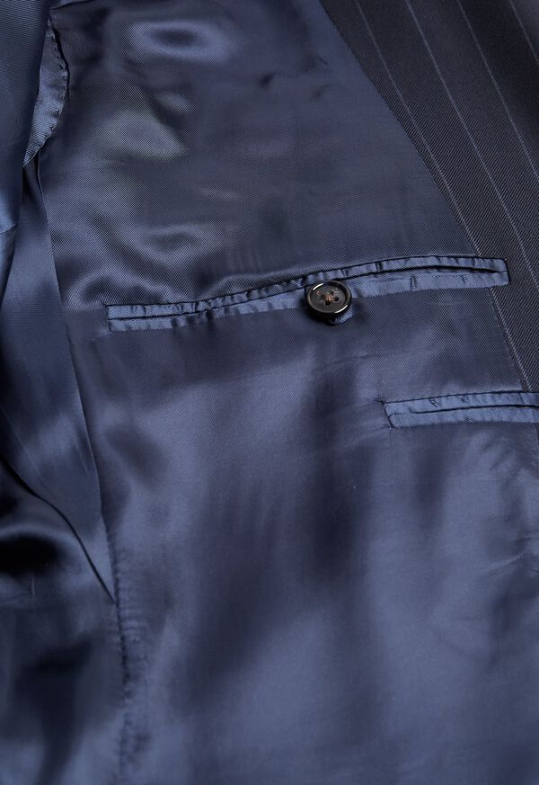 Navy Stripe Super 110s Wool Suit, image 4