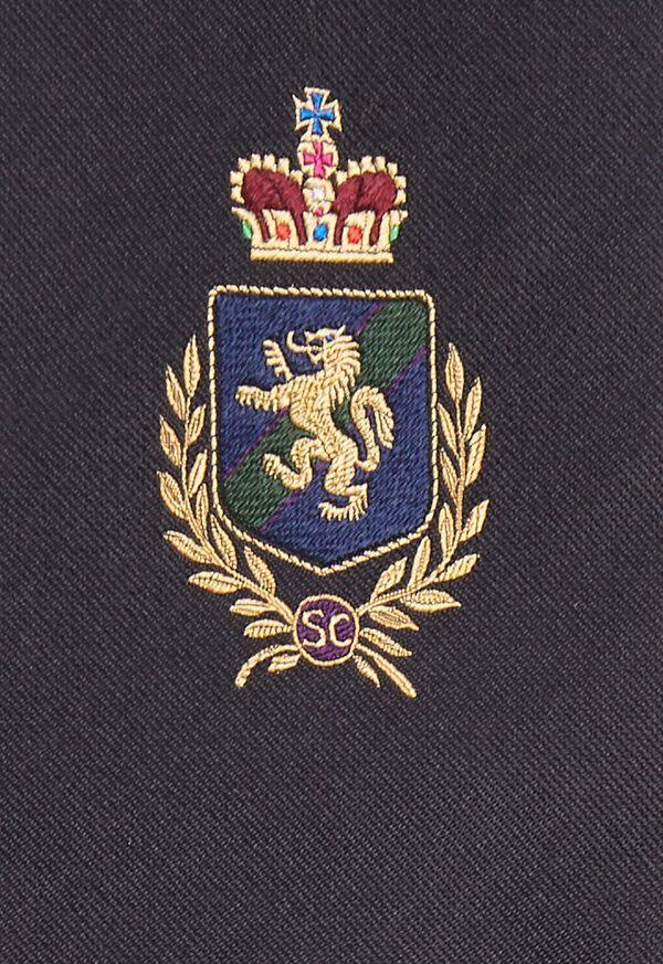 Crest Motif Silk Tie, image 3