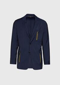 Navy Wool Blend Sport Jacket, thumbnail 1