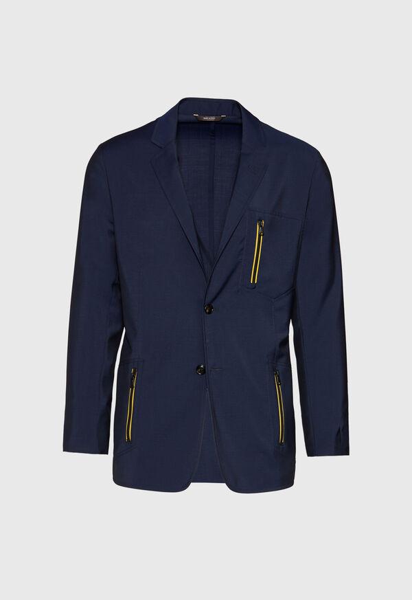 Navy Wool Blend Sport Jacket, image 1