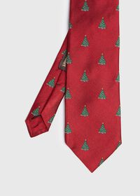 Red Christmas Tree Holiday Tie, thumbnail 1