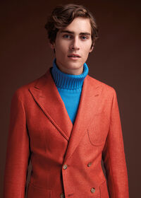 Cashmere Mohair Blend Double Breasted Sport Jacket, thumbnail 2
