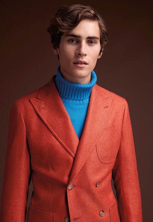 Cashmere Mohair Blend Double Breasted Sport Jacket, image 2