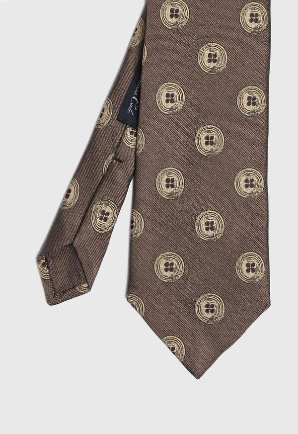 Button Silk Tie, image 1