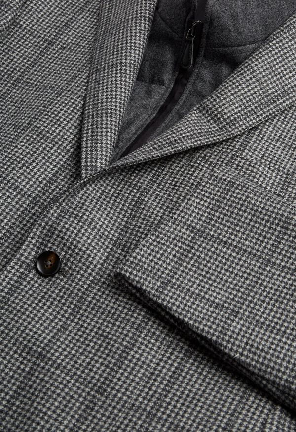 Houndstooth Travel Jacket and Built-in Vest, image 2