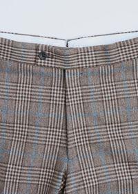 Phillip Fit Mink Plaid Wool Suit, thumbnail 7