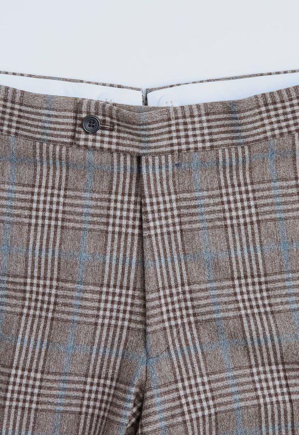 Phillip Fit Mink Plaid Wool Suit, image 7
