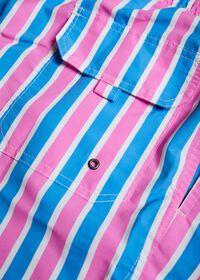 Wide Stripe Printed Swim Trunk, thumbnail 2