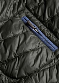 Nylon Quilted Coat With Contrast Piping, thumbnail 4