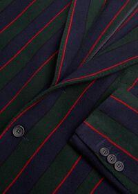 Rice Stitch Merino Wool Stripe Blazer, thumbnail 2