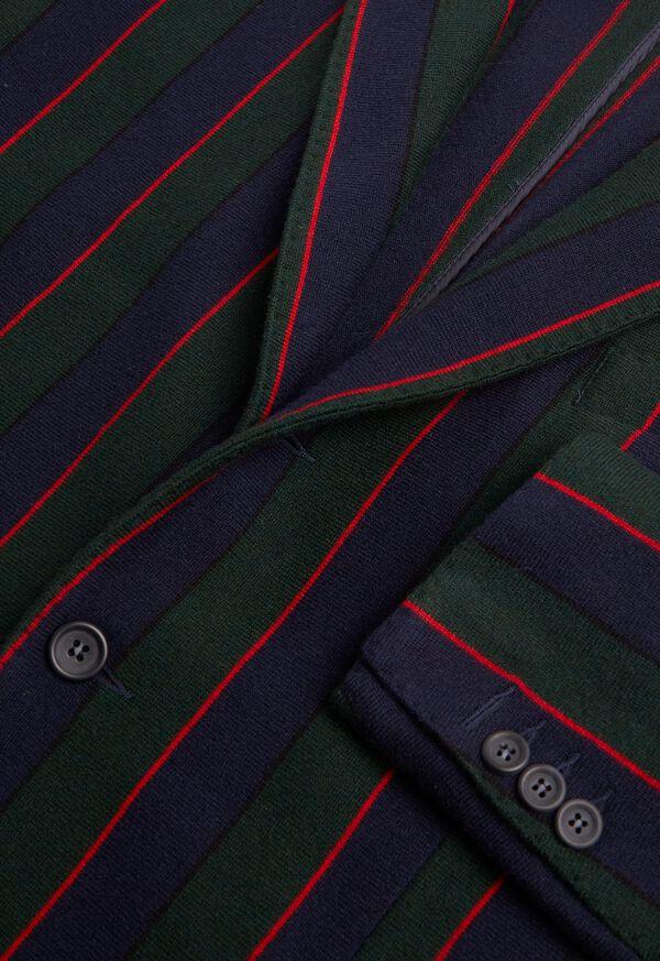 Rice Stitch Merino Wool Stripe Blazer, image 2